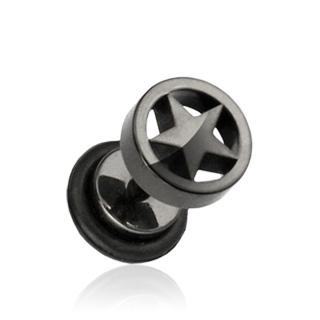 Falošný piercing do ucha - hviezda