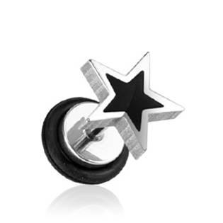 Falešný piercing - hvězda
