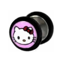 Šperky4U Falešný piercing - kočička Hello Kitty - FP01075