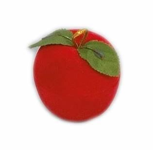 KR0110 Dárková krabička semiš - jablko