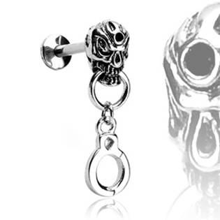 Šperky4U Piercing do brady - lebka - LB01079