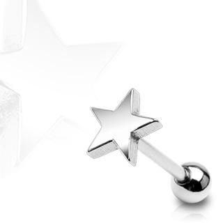 Piercing do jazyka - hviezda