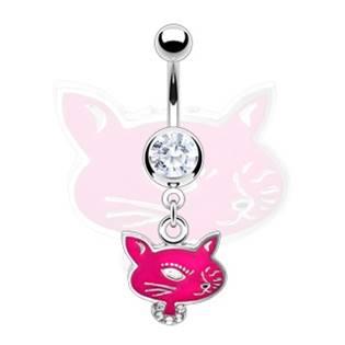 Šperky4U Piercing do pupíku - hlava kočky - WP01096