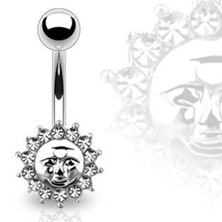 Šperky4U Piercing do pupíku - sluníčko - WP01093