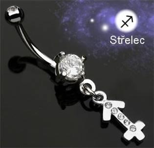Šperky4U Piercing do pupíku - znamení Střelec - WP01149