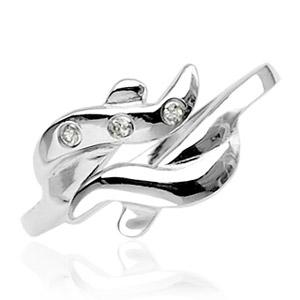 Stříbrný prstýnek na nohu - vlnky