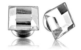 Magnetický piercing do ucha - štvorcový kamienok