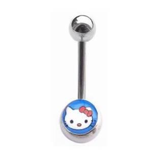 Šperky4U Piercing do pupíku - banánek kočička Hello Kitty - BS01024