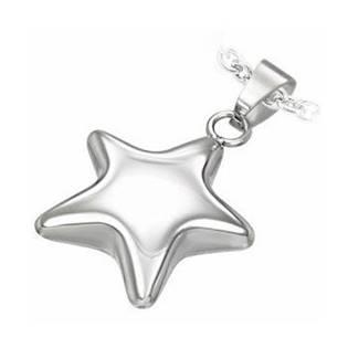 Oceľový prívesok - hviezda