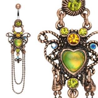 Šperky4U Piercing do pupíku měděného vzhledu - WP01234
