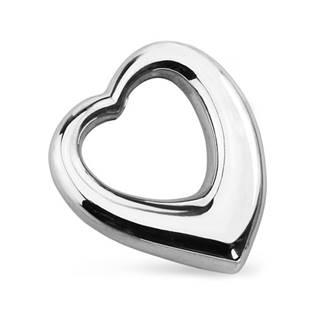 Ocelový přívěšek - srdce