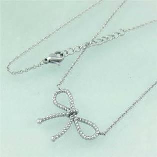 Dámsky oceľový náhrdelník - mašlička