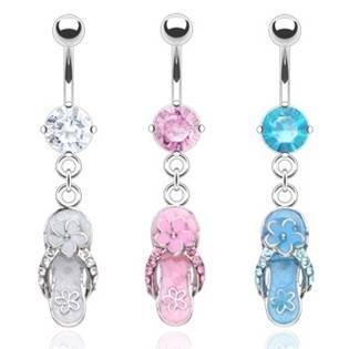 Šperky4U Piercing do pupíku - botičky - WP01228-P