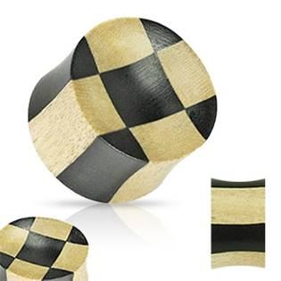 Dřevěný plug - šachovnice