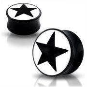 Akrylátový plug - čierna hviezda