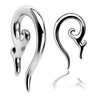 Oceľový rozťahovák do ucha