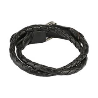 Kožený náramek splétaný černý