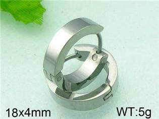 Oceľové náušnice - kruhy, priemer 18 mm