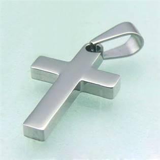 Oceľový prívesok - kríž