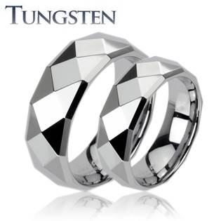 Dámsky snubný prsteň volfrám, šírka 6 mm, veľ. 50