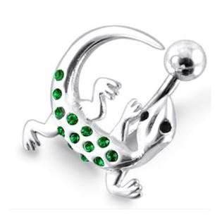 Šperky4U Stříbrný piercing do pupíku - ještěrka - BP01157-P