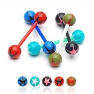 Šperky4U Piercing do jazyka - PJ01153-RK