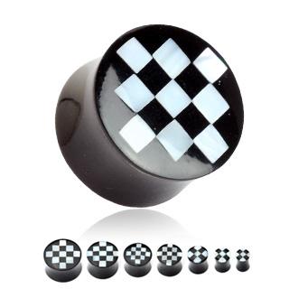 Rohovinový plug - šachovnica