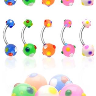 Šperky4U Piercing do pupíku - banánek - BA01069-B