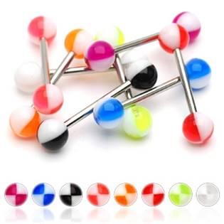 Šperky4U Piercing do jazyka akrylát - PJ01116-WG
