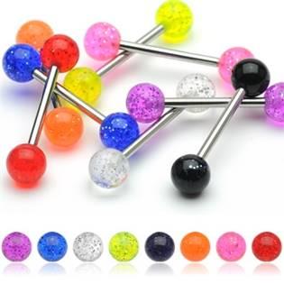 Šperky4U Piercing do jazyka akrylát - PJ01148-G