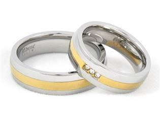 Dámsky snubný prsteň oceľový šírka 6 mm, veľ. 57