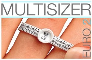 Plastový merač obvodu prsta - veľkosti prsteňa