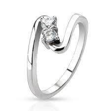 Zásnubný prsteň chirurgická oceľ OPR1488