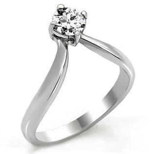 Zástnubný oceľový prsteň so zirkónom OPR1479