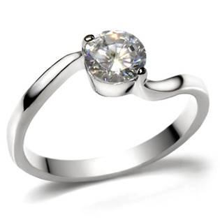 Zásnubní ocelový prsten se zirkonem OPR1481