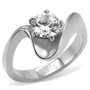 Oceľový prsteň so zirkónom OPR1485