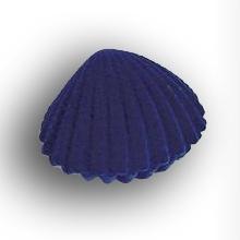 Darčeková krabička semiš - lastúra modrá