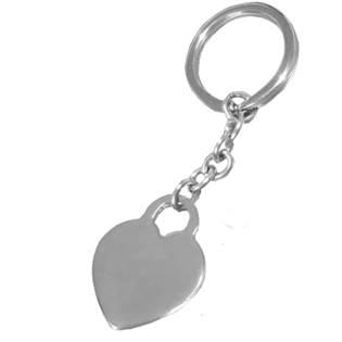 Oceľový prívesok na kľúče - srdiečko pre rytie