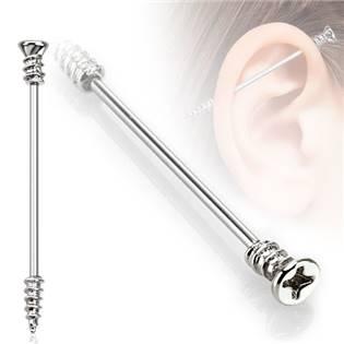 Priemyselný piercing - skrutka, 1,6 x 35 mm