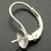 Strieborné náušnicové zapínanie uzatvorené - dámsky patent ag 925/1000