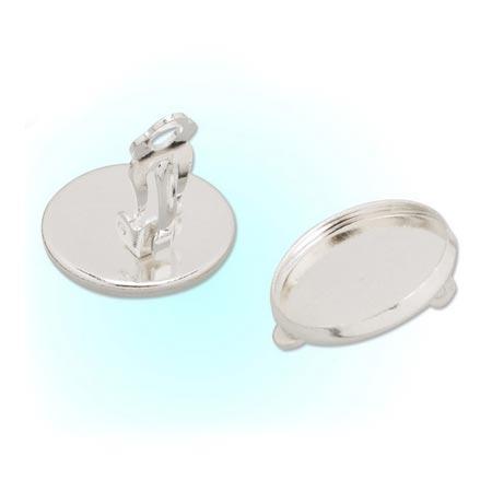 Náušnicové zapínanie - klips, lôžko 14 mm