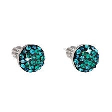Stříbrné náušnice s krystaly Crystals from Swarovski®, Magic Green EG2008-MG