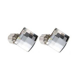 Strieborné náušnice SWAROVSKI® Elements, Chessboard Crystal