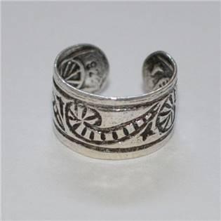Strieborný prstienok na nohu - ornament