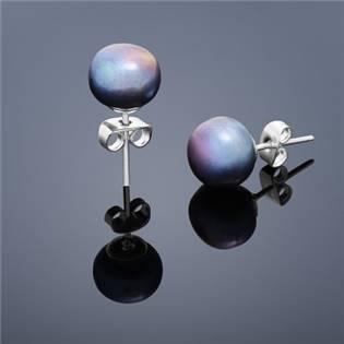 Perlové náušnice Buka , veľké - svetlo modré perly