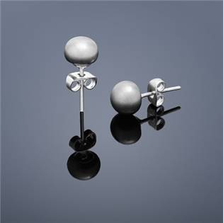 Perlové náušnice Buka , malé - šedé perly