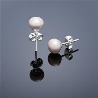 Perlové náušnice Buka , malé - ružové perly