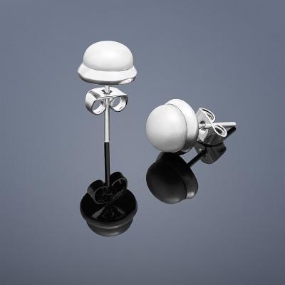 Perlové náušnice Buka malé - biele perly