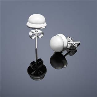 Perlové náušnice Buka , malé - biele perly