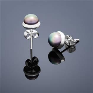Perlové náušnice Buka , malé - hnedé perly